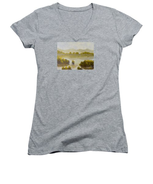Quiet Reflections Women's V-Neck T-Shirt
