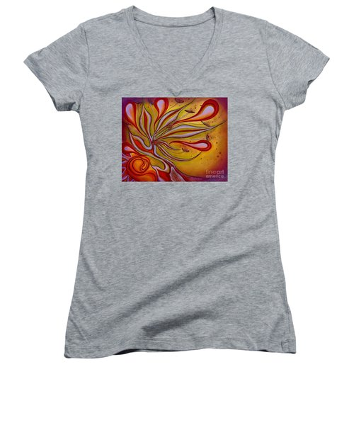 Radiance Of Purpose Women's V-Neck T-Shirt