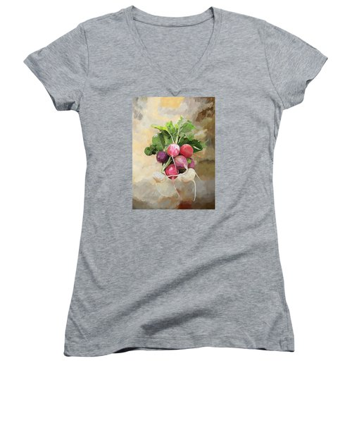 Radishes Women's V-Neck T-Shirt