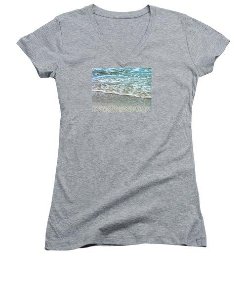 Rain Sea  Women's V-Neck T-Shirt (Junior Cut) by Oleg Zavarzin