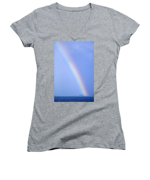 Rainbow Women's V-Neck (Athletic Fit)