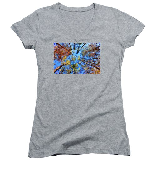 Rainbow Fall Women's V-Neck T-Shirt