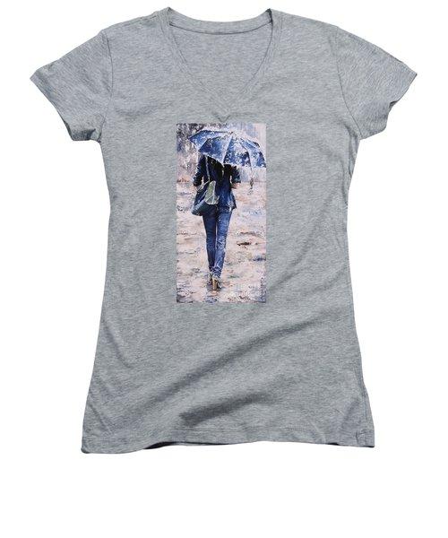 Rainy Day #22 Women's V-Neck (Athletic Fit)