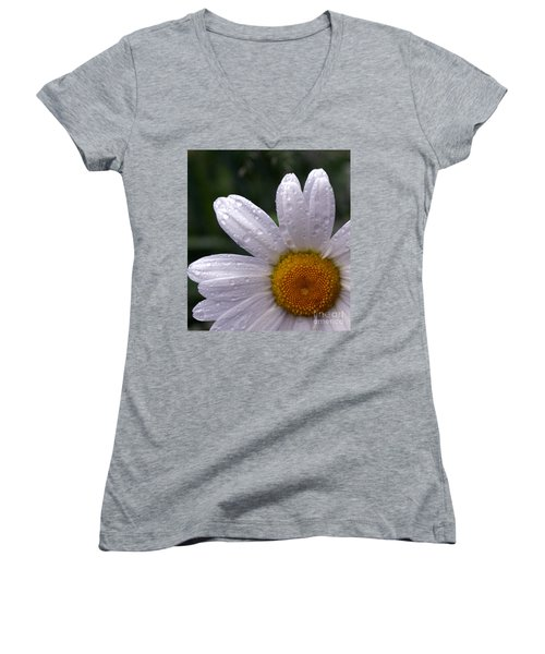 Rainy Day Daisy Women's V-Neck T-Shirt