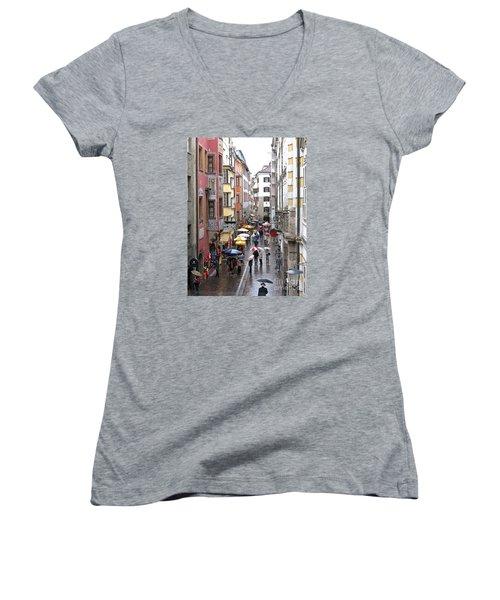 Rainy Day Shopping Women's V-Neck T-Shirt