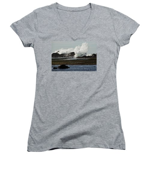 Reaching For The Sky Women's V-Neck T-Shirt (Junior Cut) by Dave Files