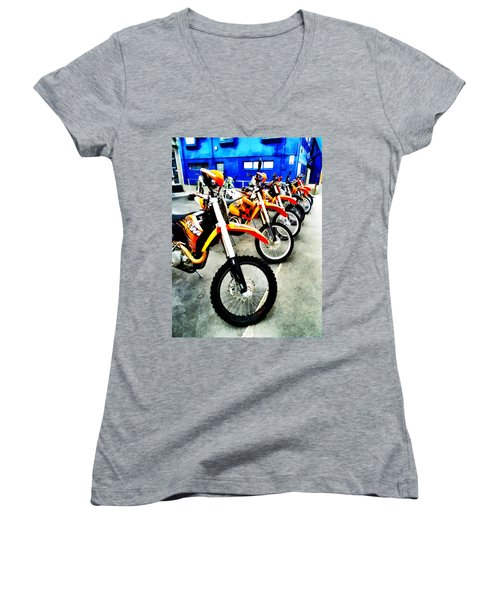 Ready To Ride Women's V-Neck T-Shirt