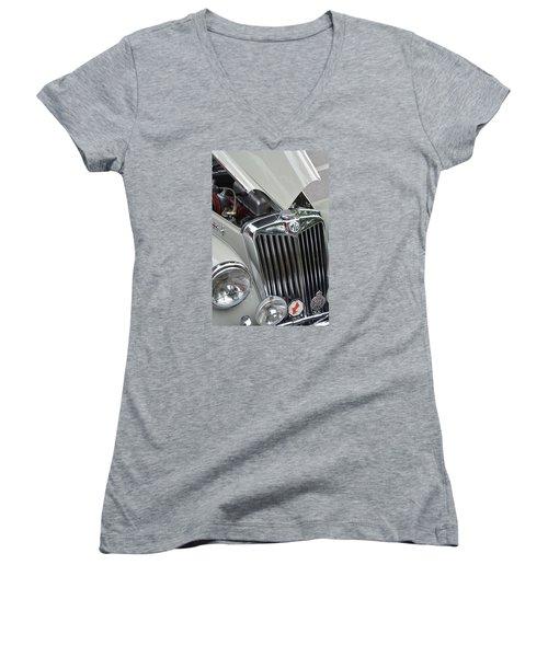 Real M G Women's V-Neck T-Shirt (Junior Cut) by John Schneider