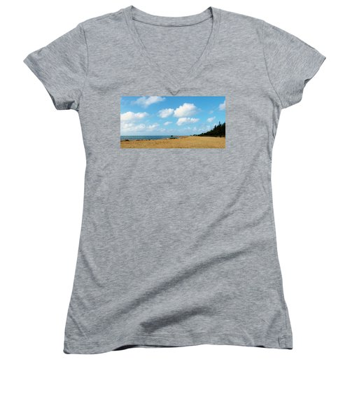 Women's V-Neck T-Shirt (Junior Cut) featuring the photograph Reclamation 8 by Amar Sheow