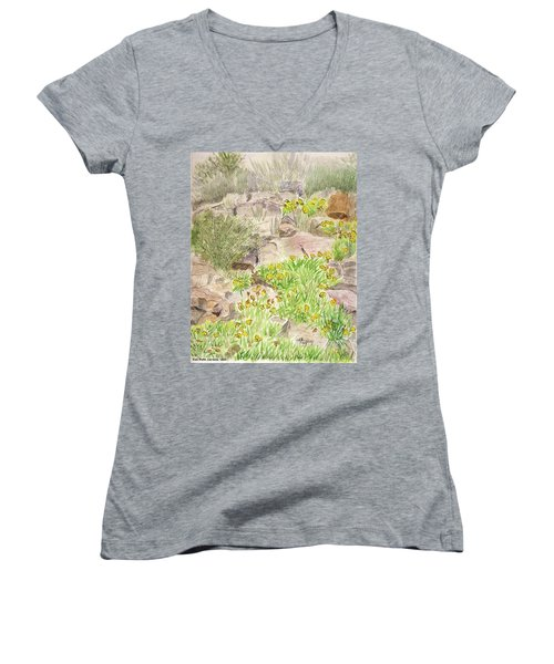 Red Butte Gardens Women's V-Neck T-Shirt