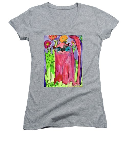 Red Cat Women's V-Neck