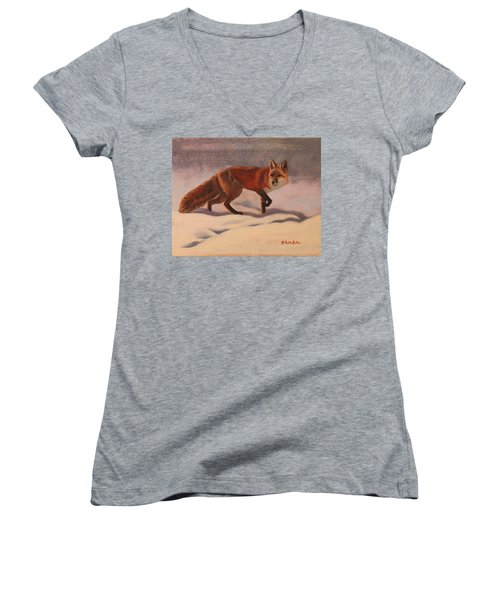 Red Fox Women's V-Neck (Athletic Fit)