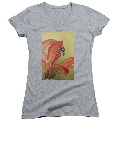 Red Lily Women's V-Neck T-Shirt