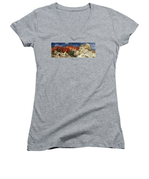 Red Rock Canyon Women's V-Neck (Athletic Fit)
