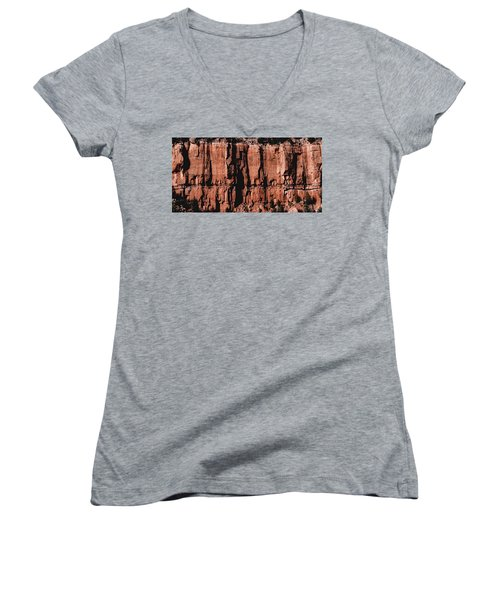 Red Rock Wall Women's V-Neck