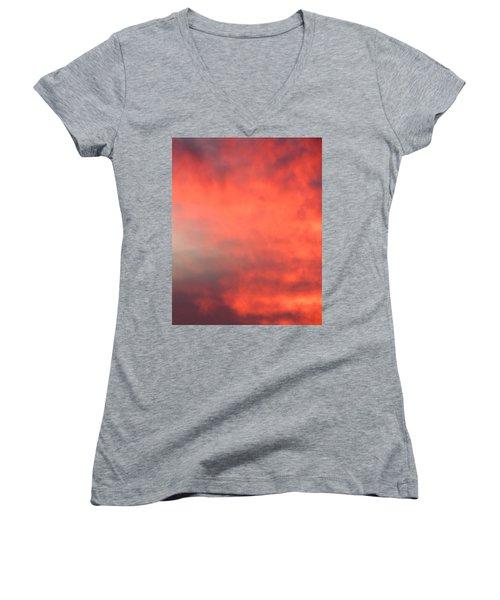 Red Sky At Night Women's V-Neck T-Shirt
