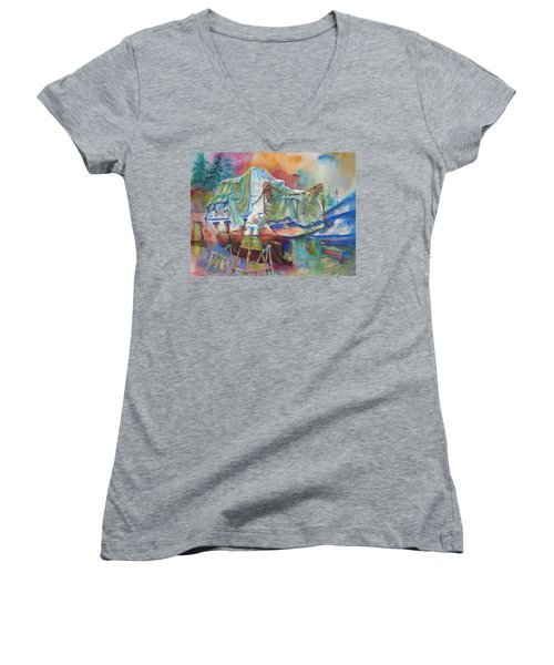 Redemption Ilwaco Wa Women's V-Neck T-Shirt