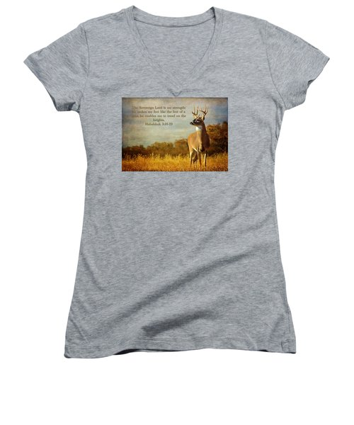 Reflecting His Glory Women's V-Neck (Athletic Fit)