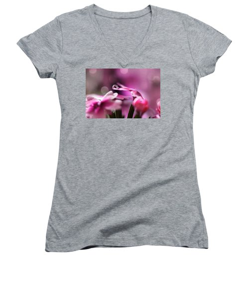 Reflecting On Pink Women's V-Neck T-Shirt