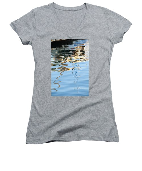 Reflections - White Women's V-Neck (Athletic Fit)