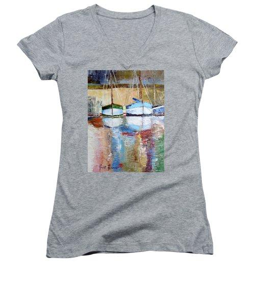 Reflections Women's V-Neck T-Shirt (Junior Cut) by Janet Garcia