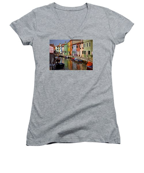Reflections Of Burano Women's V-Neck