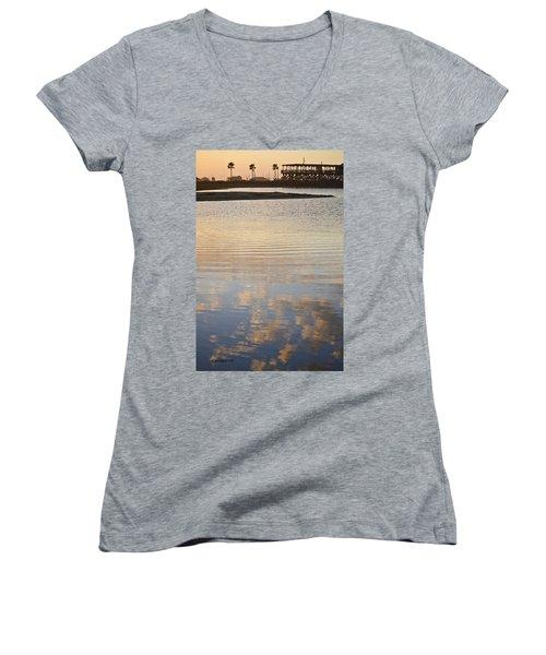 Reflections Of Dusk Women's V-Neck T-Shirt