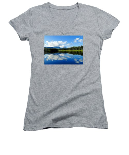 Reflections Of Nature Women's V-Neck (Athletic Fit)
