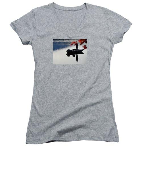 Reflections On Fishing Women's V-Neck T-Shirt