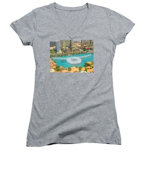 Women's V-Neck T-Shirt (Junior Cut) featuring the photograph Release To Dance by Angela J Wright