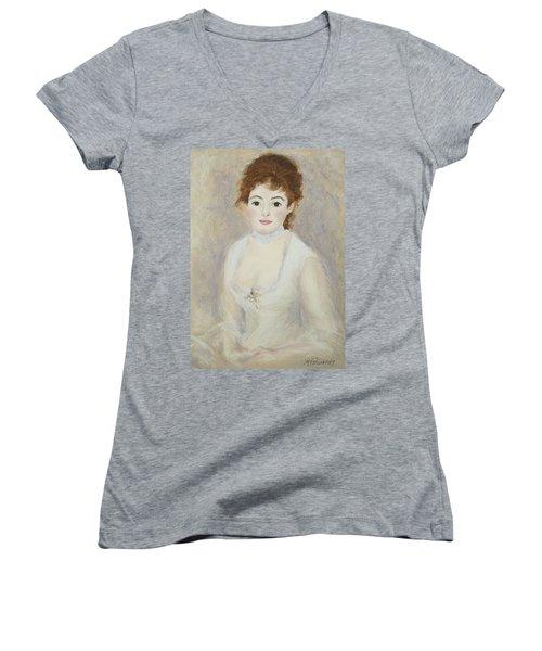 Renoir's Lady Women's V-Neck T-Shirt