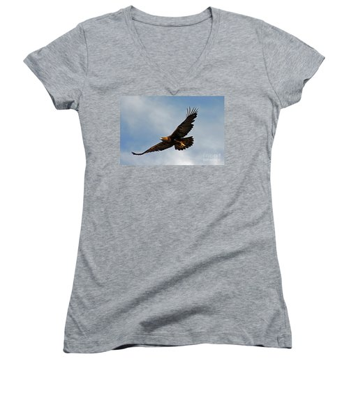 Resolute Women's V-Neck T-Shirt (Junior Cut) by Bob Hislop