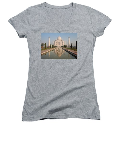 Resplendent Taj Mahal Women's V-Neck T-Shirt