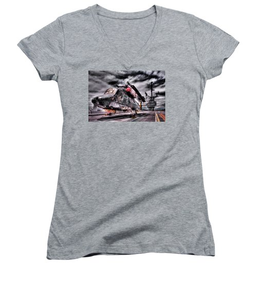 Retired Pilot Women's V-Neck T-Shirt