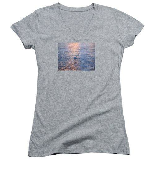 Returning  Women's V-Neck T-Shirt (Junior Cut) by Susan  Dimitrakopoulos