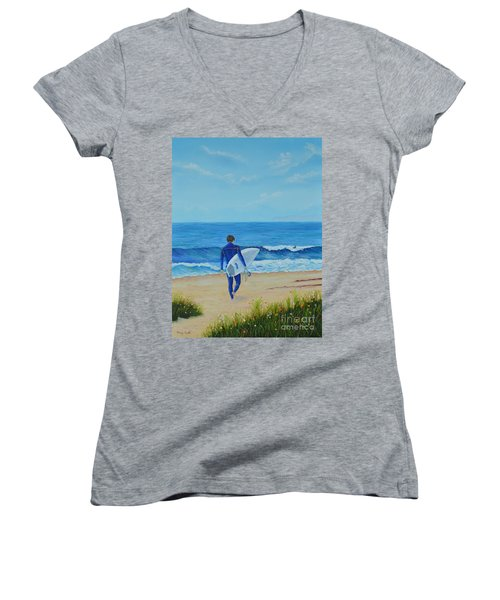 Returning To The Waves Women's V-Neck