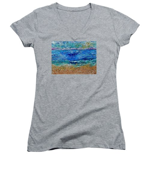 Rhapsody On The Sea  Women's V-Neck (Athletic Fit)