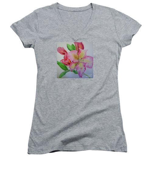 Rhodie With Dew I Women's V-Neck