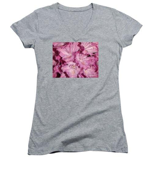 Rhododendron Bliss Women's V-Neck T-Shirt