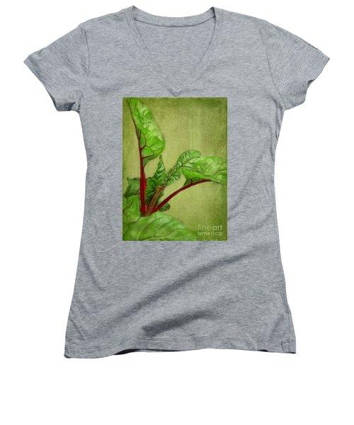 Rhubarb Women's V-Neck T-Shirt