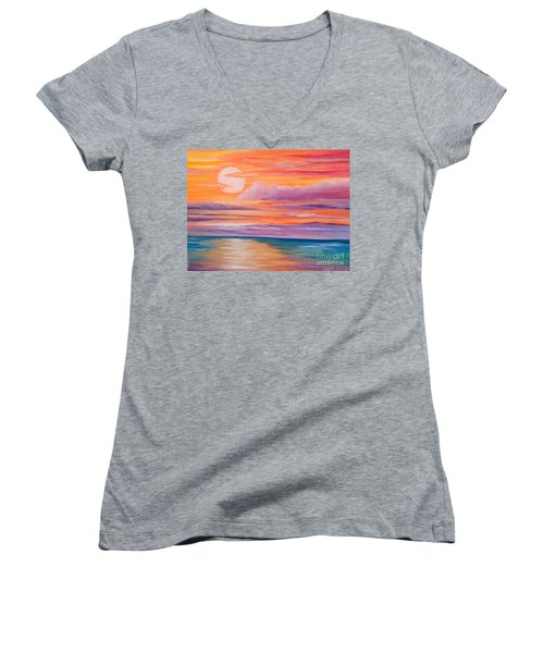 Ribbons In The Sky Women's V-Neck T-Shirt (Junior Cut) by Holly Martinson