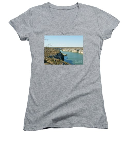 Women's V-Neck T-Shirt (Junior Cut) featuring the photograph Rio Grande by Erika Weber