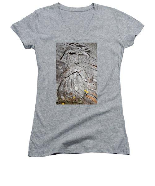 Rip Van Winkle Women's V-Neck T-Shirt (Junior Cut) by Tikvah's Hope