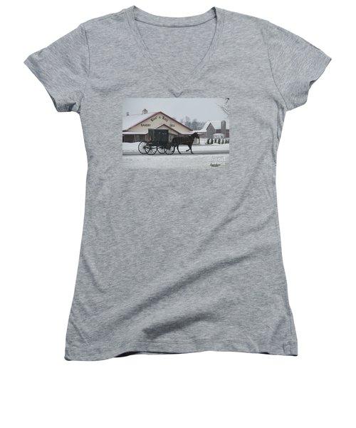 Rise N Roll Buggy Women's V-Neck T-Shirt
