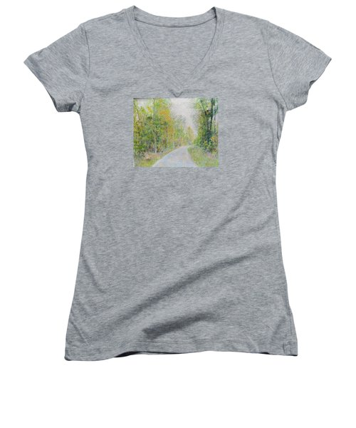 Country Road  Women's V-Neck T-Shirt