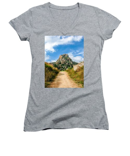 Road Into The Hills Women's V-Neck T-Shirt