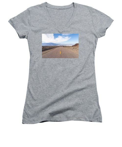 Road To Death Valley Women's V-Neck T-Shirt (Junior Cut) by Muhie Kanawati