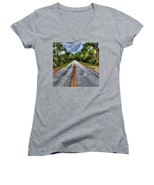 Road To No Where Women's V-Neck