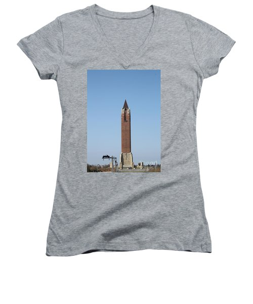 Robert Moses Tower At Jones Beach Women's V-Neck (Athletic Fit)