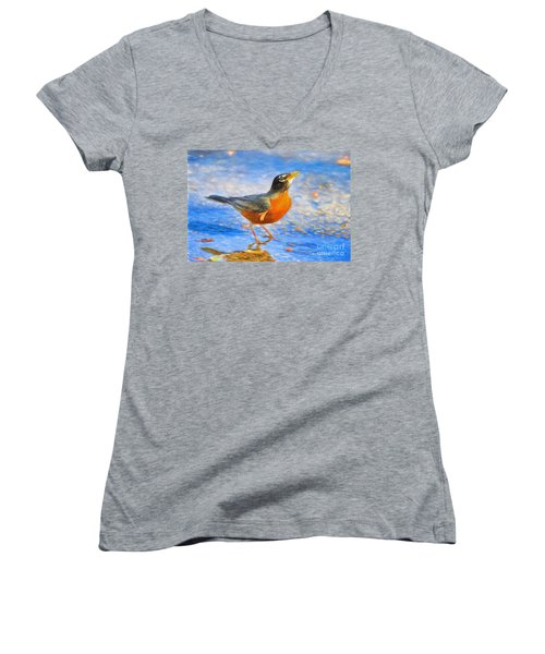 Robin In Florida Women's V-Neck